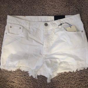 White Jean Short